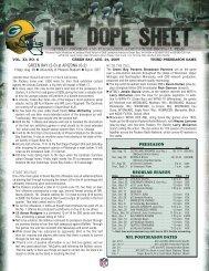 Preseason Game No. 3 at Arizona Dope Sheet.indd - WLUK Fox 11