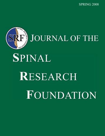 Click to Read the Spring 2008 Journal - Spinal Research Foundation