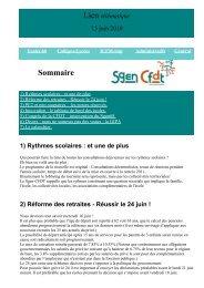 Sommaire - Sgen-CFDT ALSACE