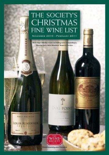CHRISTMAS - The Wine Society