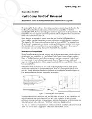 New capabilities for fast craft analysis with ... - Hydrocomp Inc.