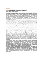 Editorial Sharing knowledge, developing competence - simaiss