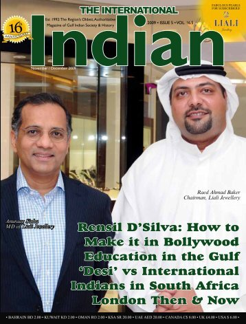 Rensil D'Silva: How to Make it in Bollywood Education in the Gulf ...
