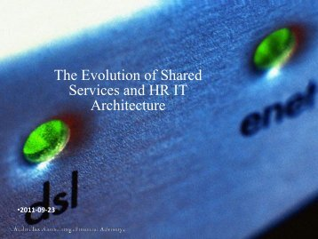S1 Shared Services and global HR IT architecture