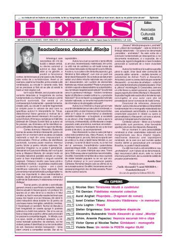 Reactualizarea dosarului Mioriþa - Revista HELIS