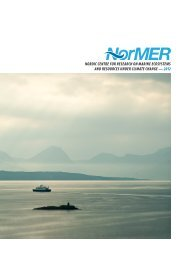 NorMER in brief - Nordic Centre for Research on Marine ...