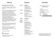 Einladung Programm Anmeldung - Schleswig-Holstein Tag