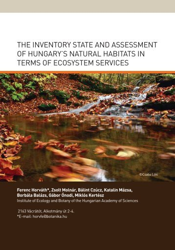 the inventory state and assessment of hungary's natural habitats in ...