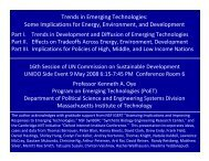Trends in Emerging Technologies: Some Implications for ... - unido