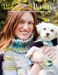 Spring 2013 - National Association of Professional Pet Sitters