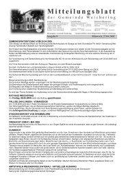 Ausgabe 9 Mittwoch, 27.04.2005 - Weichering