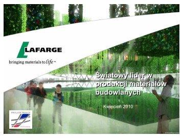 Grupa Lafarge 2010