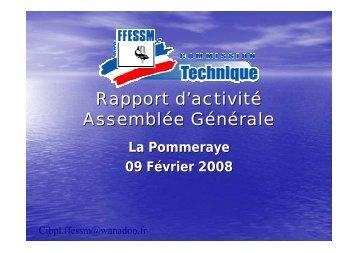 Rapport d'activité AG CTR format PDF - Commission technique ...