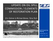 update on oil spill commission / elements of restoration plan
