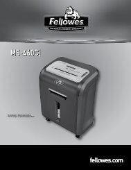 MS-460Ci Bedienungsanleitung - Fellowes