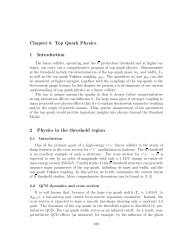 Chapter 6 Top Quark Physics 1 Introduction 2 Physics in the ...