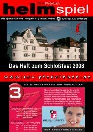 Das Heft zum Schloßfest 2008 - TSV Pfedelbach