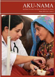 Winter 2010, Vol. 3, Issue 1 - Aga Khan University