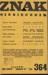 Nr 364, marzec 1985 - Znak