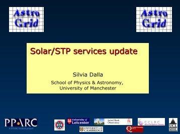 Solar/STP services update - AstroGrid wiki