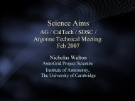 Science Aims - AstroGrid wiki