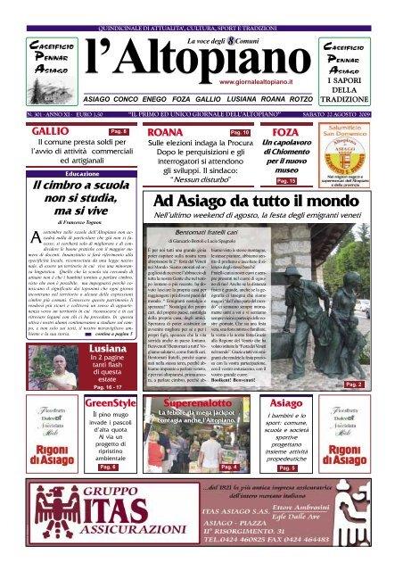 22 Agosto 2009 Pdf Il Giornale Dell Altopiano
