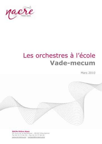Les orchestres à l'école Vade-mecum - La NACRe