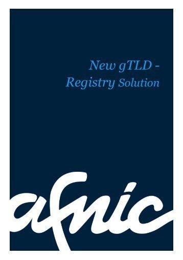 New gTLD - Registry Solution - Afnic