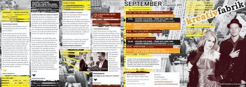 September 2011 - Kreativfabrik Wiesbaden