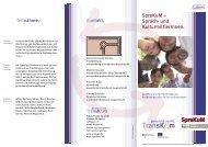 Flyer SpraKuM – Sprach- und KulturmittlerInnen. - Transkom