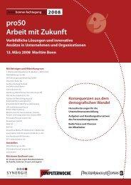 Programm pro50 - Arbeit mit Zukunft (422 KB) - Bonner Fachtagung
