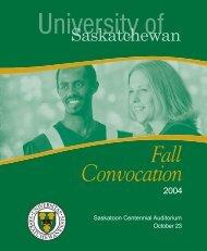Fall 2004 - Students - University of Saskatchewan