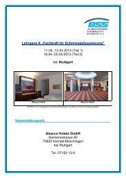 11.04.-13.04.2013 (Teil 1) - Bundesverband Schimmelpilzsanierung ...