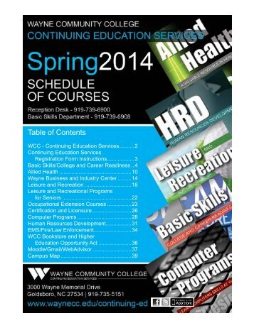 ConEd Spring 2012 Course Schedule_RED.indd - Wayne ...