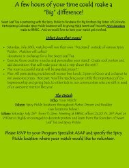 Spicy Pickle Info.pub - Big Brothers Big Sisters of Colorado