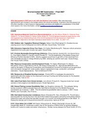 Environmental Bill Summaries - NC Conservation Network