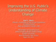 Improving the U.S. Public's Understanding of Climate Change