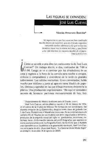 José Luis Cuevas / Nicolás Amoroso Boelcke - Si necesitas algún ...