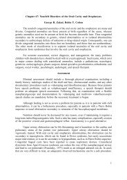 Chapter 67: Noncleft Disorders of the Oral Cavity and ... - Famona Site