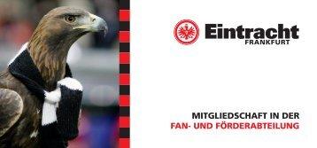 mitgliedschaft in der fan- und förderabteilung - Eintracht Frankfurt eV