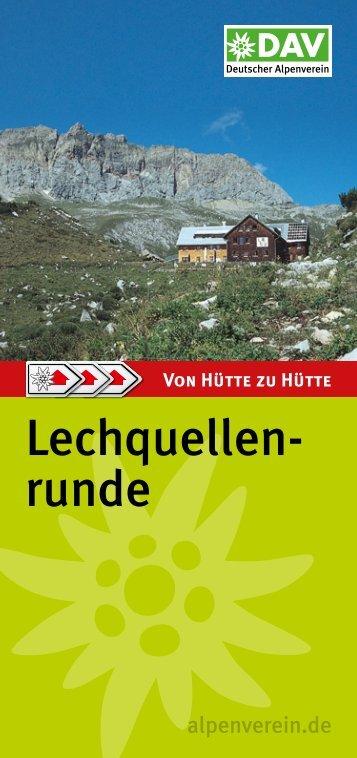 Lechquellen- runde - Deutscher Alpenverein