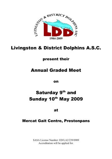 Livingston & District Dolphins ASC - Swim Scotland