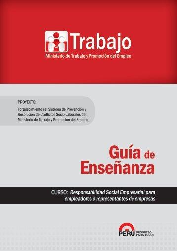 Guía de Enseñanza - Ministerio del Trabajo y Promoción del Empleo