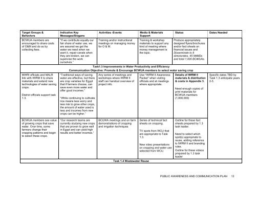 Report 4 Communication Plan