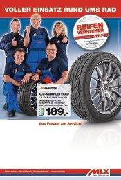 VOLLER EINSATZ RUND UMS RAD - MLX Reifen, Räder und mehr