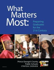 Strategic Overview - Prince George's County Public School System