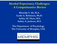 Alcohol Expectancy Challenges A Comprehensive Review