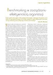 Benchmarking w zarządzaniu efektywnością organizacji - Infor