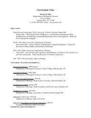 Curriculum Vitae - Union College