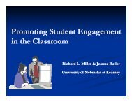 Promoting Student Engagement Promoting Student ... - NSSE